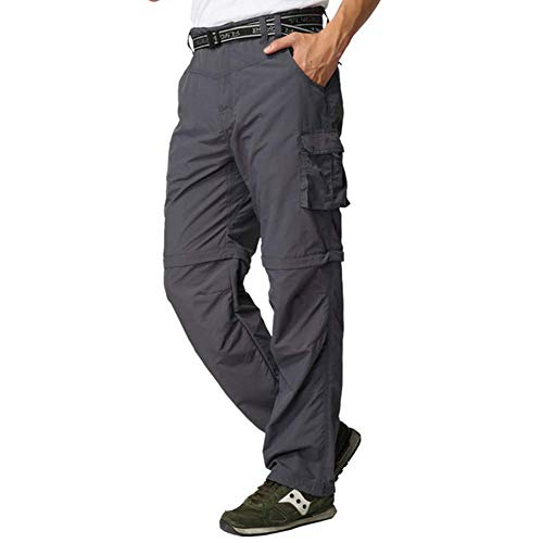 wei Hombres Convertible Impermeable Trabajo Pantalones Aire Libre...