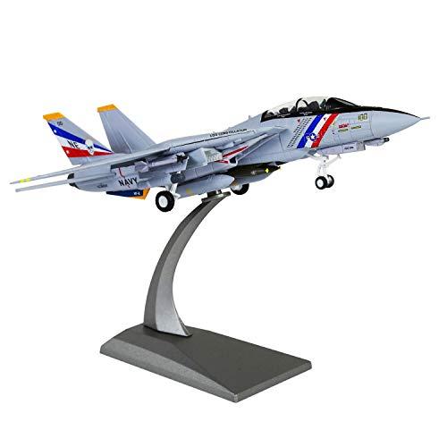 LoseFunPark 1:100 Militärische Modellflugzeug F-14 Tomcat Druckgusslegierung Kampfflugzeugmodell