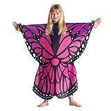 FLORIANA Children's Wearable Butterfly Blanket Throw Blanket, Purple & Blue, 25 x 32 Inch