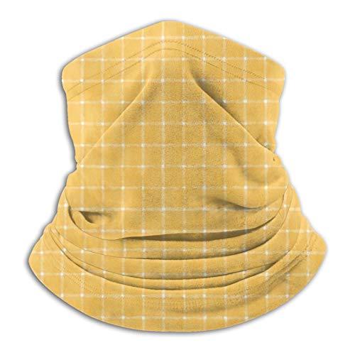 longdai Bandana multifuncional sin costuras con diseño de narciso dorado a cuadros, bandana con tubo elástico, resistente a los rayos UV, para correr, montar a caballo, senderismo, yoga, deportes