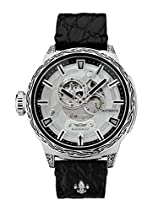 HÆMMER Big Honor Skeleton Automatikuhr Herren aus Edelstahl | Exklusiv Limitierte Herrenuhr mit Kalbsleder Armband Uhr mit Inkgraved veredeltem Gehäuse