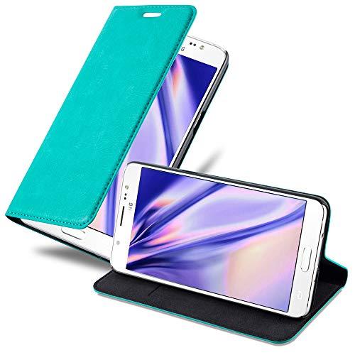 Cadorabo Hülle für Samsung Galaxy J5 2016 in Petrol TÜRKIS - Handyhülle mit Magnetverschluss, Standfunktion & Kartenfach - Hülle Cover Schutzhülle Etui Tasche Book Klapp Style