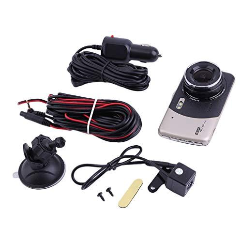 4 Inch HD 1080P Dual Lens Camera Auto DVR Auto Videorecorder G-Sensor Nachtzicht 170 Graden Dash Cam S9000 Volledig programma Zwart