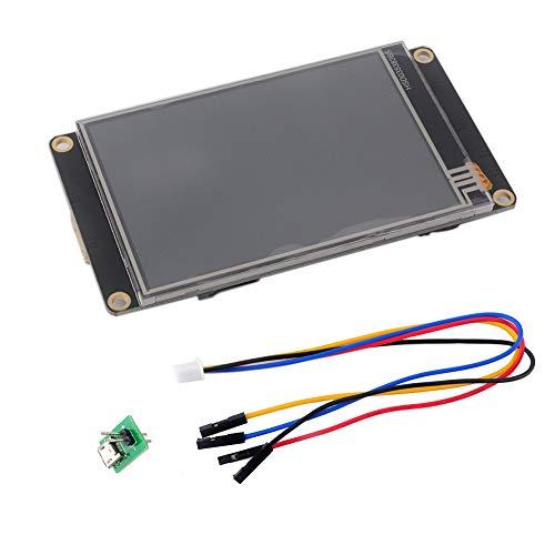 Nextion Enhanced 7 pulgadas Pantalla táctil resistiva HMI LCD Panel 800x480 32MB Flash para Arduino Raspberry Pi (NX8048K070)