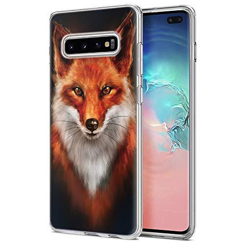 Yoedge Samsung Galaxy S10 Plus Hülle, Silikon TPU Schutzhülle Ultradünn Stoßfest Transparent Weich Handyhülle mit Muster Motiv Bumper Hülle Cover für Samsung Galaxy S10 Plus - 6,4