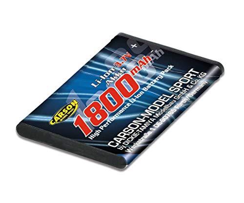 Carson 500608153 500608153-Li-Ion Reflex Pro 3 1800mAh 3,7V, Akku, Ersatzakku für RC Fahrzeuge, schwarz