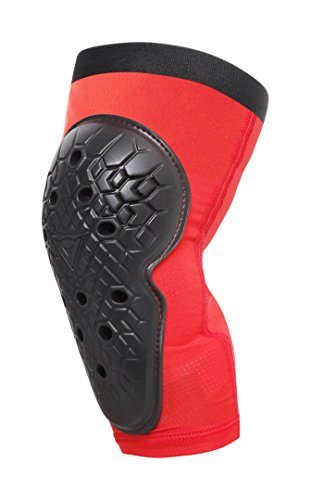 Dainese Unisex-Youth Scarabeo Knee Guards Knieprotektoren MTB Kinder, Schwarz/Rot, JS