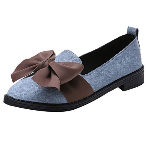 Frauen Pointed Toe Flock Slip-On Schuhe Square Heel Jobs Single Schuhe Bow Schuhe Damen Schuhe Kinder Sandalen