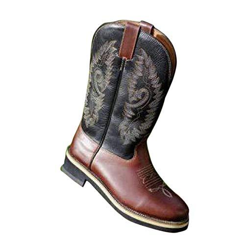 HKM 4526 buty westernowe Softy cow, buty kowboysta western kowboy, prawdziwa skóra, brązowe, 39