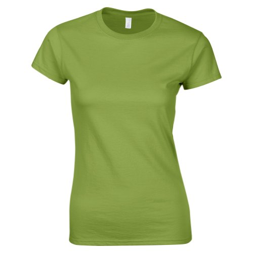 GILDAN Women's Softstyle Ringspun T-Shirt GD072 (XXL, Kiwi)