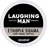 LAUGHING MAN Ethiopia Sidama Keurig Single-Serve K Cup Pods, Fair Trade Light Roast Coffee, 88Count, Ethiopia Sidama, 88Count