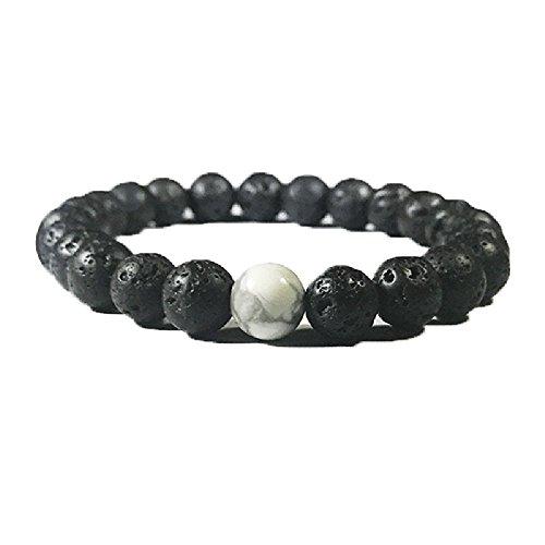 Vitality Extracts - White Howlite Lava Diffuser Bracelet
