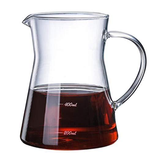 YQQ-Cafetière Verre Café Partage Pot d'accueil à la Main Brewing Coffee Pot Hand Made Machine à café Glace Goutte à Goutte Coffee Pot (Taille: 500 ML)