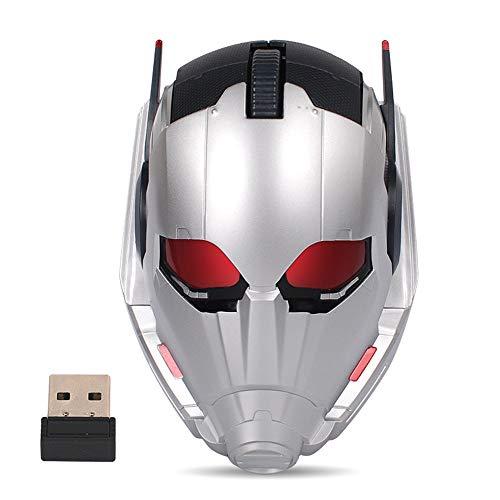 Smile Wireless Mouse Creative Wireless Cartoon Hero Mouse 2.4G Ratones para Juegos 10 Metros Transmisión inalámbrica Estable Fotoeléctrico Ordenadores portátiles inalámbricos para Oficina,Antman
