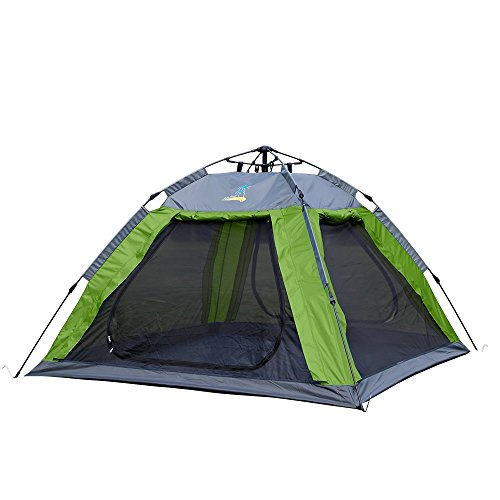 PALMBEACH Camping Tent - 2 or 3 Person Instant Tent, Backpacking Tent, 3 Season Waterproof, with Beach Sun Shelter, Screen House, Instant Setup with Portable Carry Bag