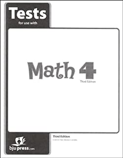 Math Grade 4 Test Pack 3rd Edition