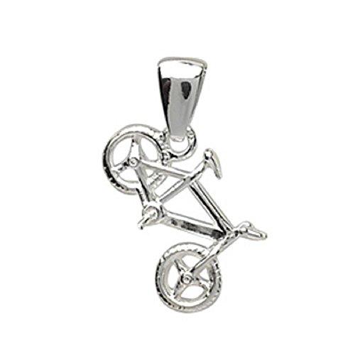 Helios Bijoux hanger MTB + ketting 50 cm sterling zilver 925 gerhodineerd 3 g