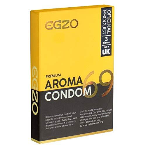 EGZO Premium 69 Aroma Condom, 3 condooms met aardbeiensmaak