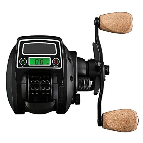 Carretes De Pesca, Carrete De Pesca con Pantalla Digital, Relación De Velocidad 8.0: 1, Fuerza De Frenado 10KG, Duración De La Batería USB/Solar, Mano Izquierda/Derecha