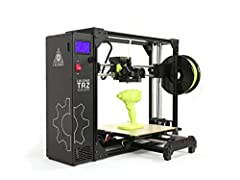 Premium E3D Hot end with 360 cooling. Belt driven Z-axis for fast cycle times and elimination of Z wobble. X/Y/Z Backlash Compensation* for 3D printed part accuracy. Lightweight tool head design for faster, better looking prints Pre-configured materi...