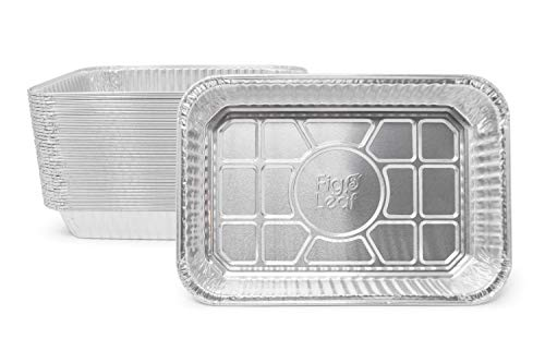 "Fig & Leaf (35 Pack) Weber Grills Compatible 6415 Drip Pans l Size 7.5"" x 5"" x 1.7"