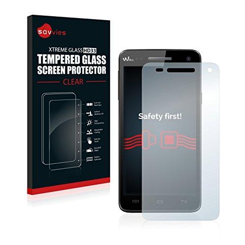 savvies Cristal Templado Compatible con Wiko Rainbow/Rainbow 4G Protector Pantalla Vidrio Proteccion 9H Pelicula Anti-Huellas