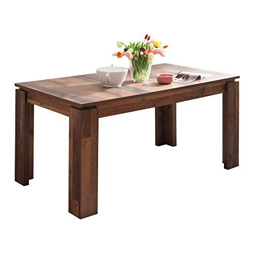 trendteam smart living Esszimmer Küchentisch, Esstisch Tisch Universal, 160 x 77 x 90 cm in Old Wood mit Ausziehfunktion