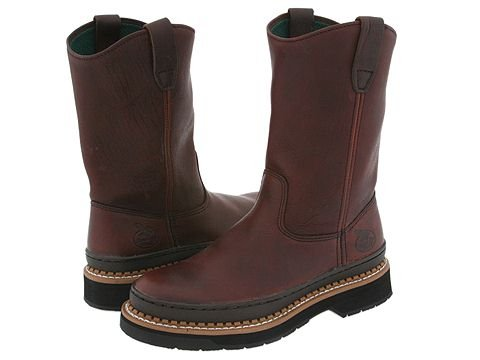 Georgia Boot  Georgia Giant Wellington (Brown) Mens Work Pull-on Boots