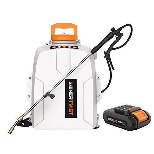 ENERTWIST 20V Battery Powered Backpack Sprayer, 3 Gal Auto...