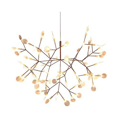 HLY Luci del soggiorno, Lampadario Sputnik Firefly Mid Century Illuminazione a sospensione Plafoniera regolabile Rami nordici Lampada a sospensione per camera da letto Bar Luce calda 30 Testa, Luce b