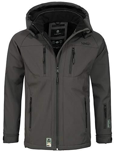 Marikoo Herren Softshell Funktions Outdoor Ski Regen Winter Jacke Sport B630 [B630-Noa-Grau-Gr.M]