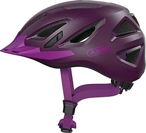 ABUS Urban-I 3.0 Stadthelm - Fahrradhelm mit Rücklicht für den Stadtverkehr - für Damen und Herren - 86887 - Lila, Größe M