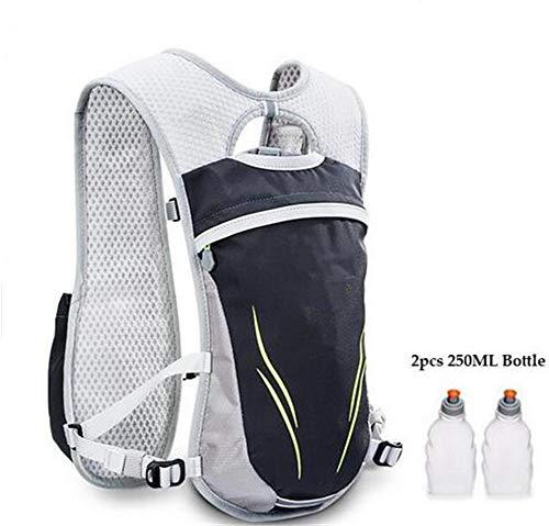 Ssszx Trekkingrucksäcke 5l Marathon Reflektierende Weste Tasche Sport Laufen Radfahren Tasche Damen Herren Sicherheitsausrüstung Wasserflasche (Weiß b)