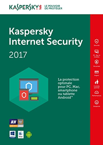 Kaspersky Internet Security 2017 - 5 postes - 1 an (PC) [Download]