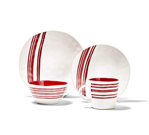 American Atelier Bistro Dinnerware Set – 16-Piece Stoneware Party...