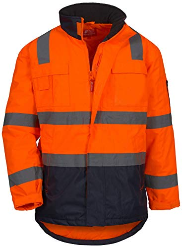 Nitras Motion TEX Viz 7144 Warnschutzjacke - EN 20471/343 - Orange - XL