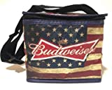 Budweiser American Flag Design Insulated Beer Tote Cooler Bag | New