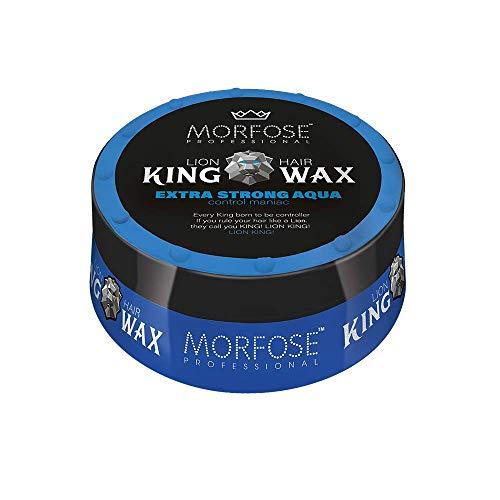 Morfose King Hair Wax 175ml Haarwachs Mad,Lion,Wise,Dark,Brave Haargel Matt Gel-Wax Haar Styling (1x Extra Strong Aqua (Blau))