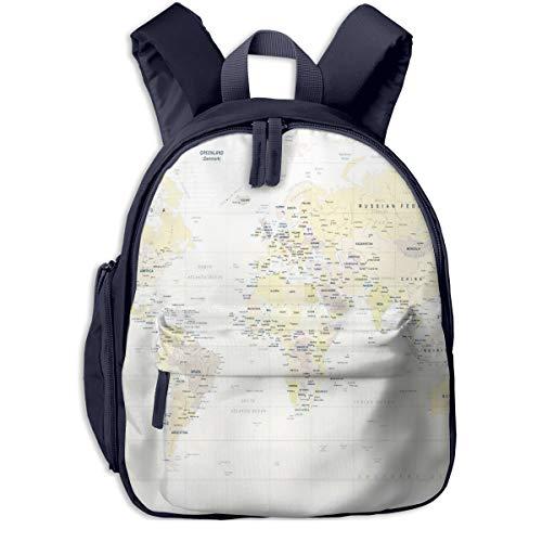 Kinderrucksack Kleinkind Jungen Mädchen Kindergartentasche Detail Weltkarte hoch Backpack Schultasche Rucksack