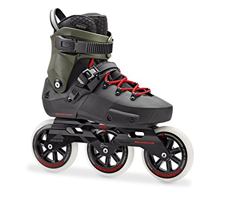 Buy Discount Rollerblade Twister Edge 110 3WD Unisex Adult Fitness Inline Skate, Black and Army Gree...