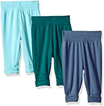 Hanes Ultimate Baby Flexy 3 Pack Adjustable Fit Knit Jogger Pants, Blues, 18-24 Months