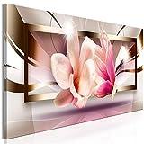 murando Quadro Fiori Magnolia 120x40 cm Stampa su tela in TNT XXL Immagini moderni Murale Fotografia Grafica Decorazione da parete 1 parte Astratto b-A-0370-b-a