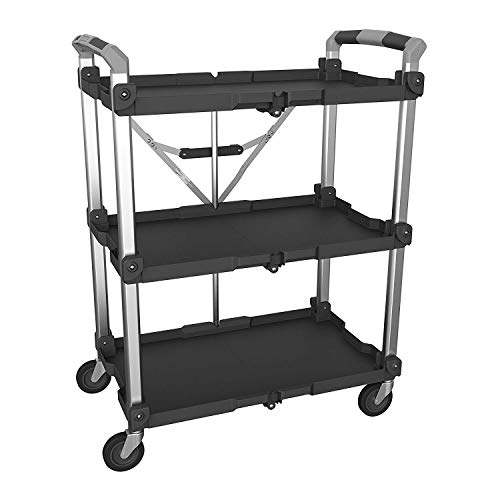 Olympia Tools 85-189 Pack N Roll Collapsible Service Cart, XL, 300LB Capacity, Black
