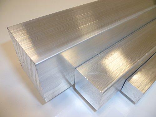 B&T Metall Aluminium Vierkant 20x20 mm AlCuMgPb (2007) in Längen à 1000 mm +/- 5 mm Bohr- und Drehqualität