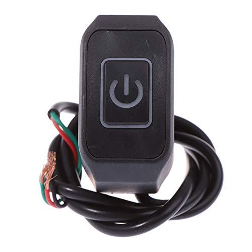 Conectores Electricos Cambio de manillar de motocicleta de 7/8 '' 22mm Montry Buttton para el control eléctrico a prueba de agua  Botón de interruptor con Ligh (Color : White)