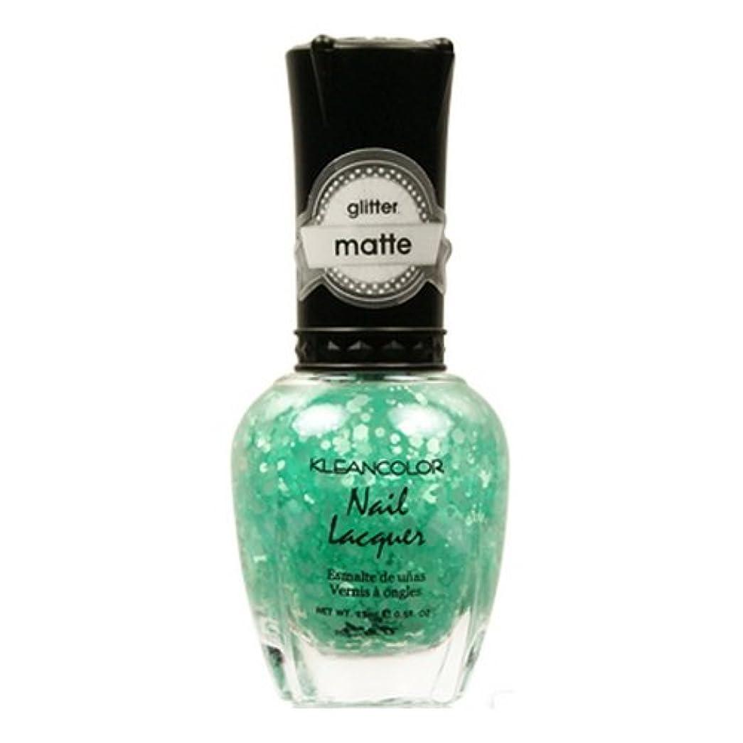 膜リングレット完璧な(3 Pack) KLEANCOLOR Glitter Matte Nail Lacquer - On-Off Relationship (並行輸入品)