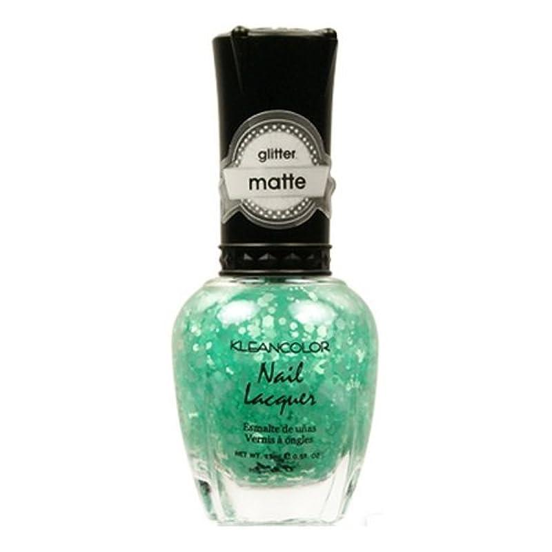後方に解放するエロチック(6 Pack) KLEANCOLOR Glitter Matte Nail Lacquer - On-Off Relationship (並行輸入品)