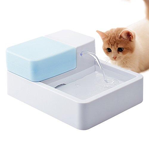 Homdox ペット用自動給水器 犬 猫 ペットファウンテン 活性炭フィルター 循環式給水器 LED付け 日本語説明書