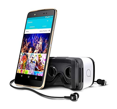 Alcatel Idol 4 Gold 6055P Android Smartphone mit Virtual Reality VR Brille