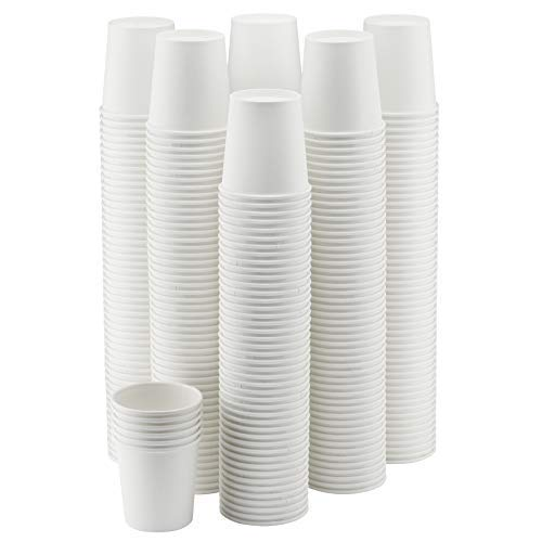 NYHI 200-Pack 4oz White Paper Disposable Cups – Hot/Cold Beverage Drinking Cup for Water, Juice, Coffee or Tea – Ideal for Water Coolers, Party, or Coffee On the Go'